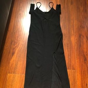 Tops hop black fitted dress